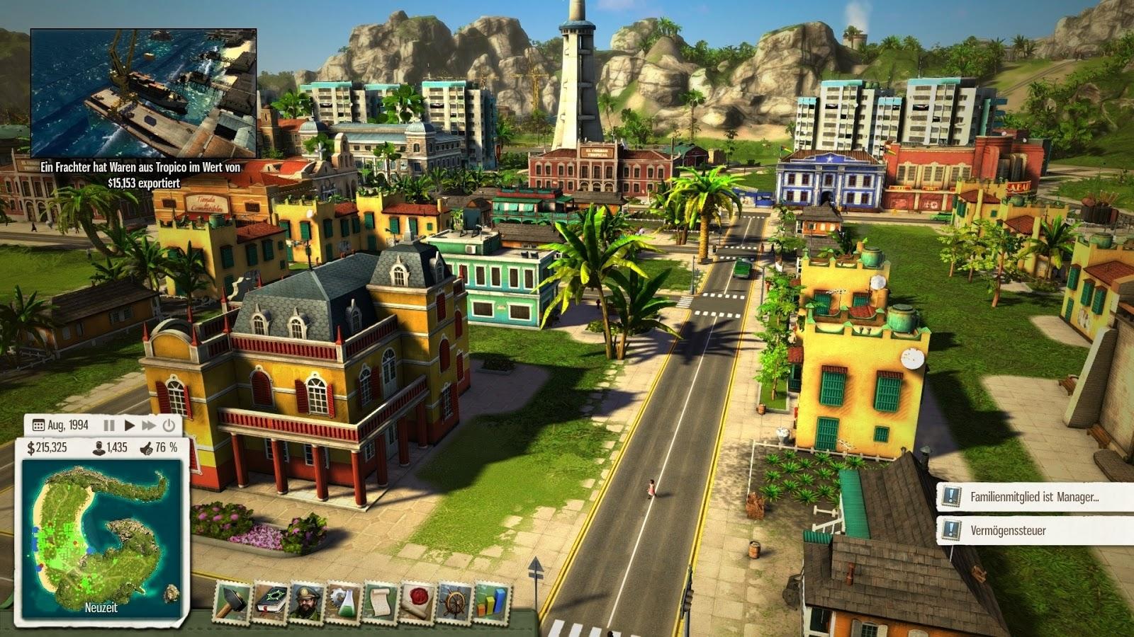 Tropico 5 - Best PC Games For Build City Simulations
