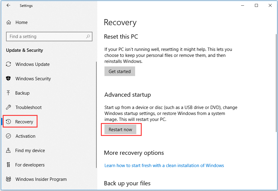 Try Startup Repair Windows 10