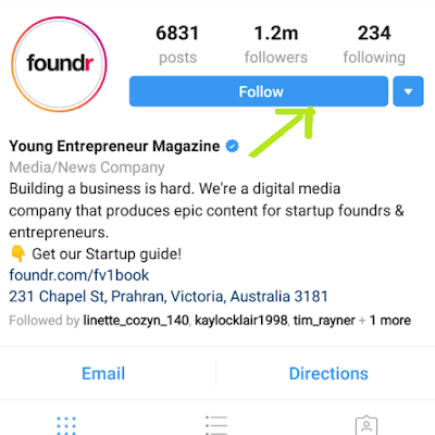 Increase Of Followers' List
